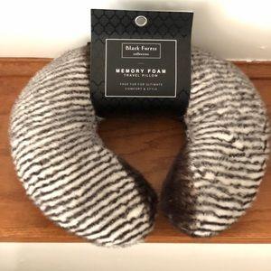 Zebra print neck pillow